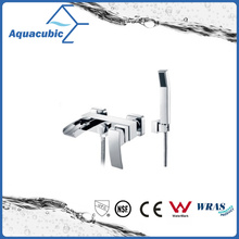 Wall-Mount Waterfall Single Handle Shower Faucet with Hand Shower (AF6004-2)