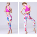 Personalizzato moda donna shiny lycra yoga leggings pants