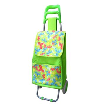 цветок печати и складывающиеся торговые тележки мешок с 2 whe