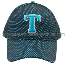 Constructed Embroidery Mesh Cover Twill Golf Baseball Cap (TMB8152)