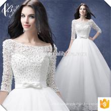 Белый длинный рукав кружева аппликация свадебные платья 2017 на заказ чисто Белый Африканский свадебное платье с жемчугом невесты