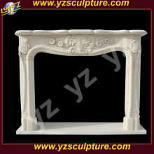 Italian Decorative Classic stone Fireplace Mantel With Hand Craft