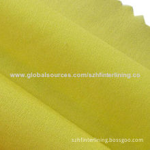 Wrap knitted colorful woven interlining