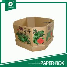 Caixa ondulada resistente forte da caixa de embalagem para a melancia
