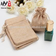 Alta qualidade leve bolsa de presente de cordão de linho