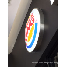 Burger King Restaurant Wall Mounted LED Blister Acrylic Lightbox