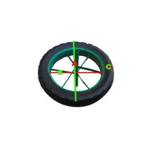 Heavy Duty Solid Rubber Wheel para Wheel Barrow