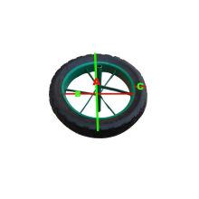 Roda de borracha maciça resistente para carrinho de mão de roda