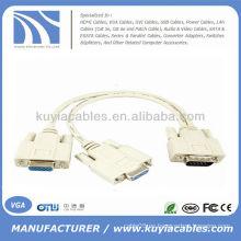 1 PC A 2 MONITOR 15 PIN VIDEO VGA SVGA Y SPLITTER CABLE ADAPTADOR