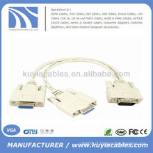 1 PC PARA 2 MONITOR 15 PIN VGA VGA SVGA Y SPLITTER CABO ADAPTADOR