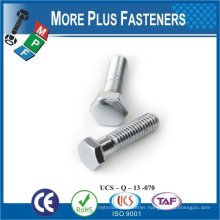 Made in Taiwan high quality stainless steel hexagon bolt head bolt hex bolt