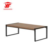 Artículos para el hogar Mesa de centro de acero inoxidable de madera moderna