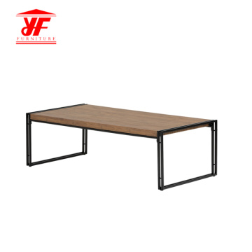 Home Goods Stainless Steel Coffee Table Modern Wooden