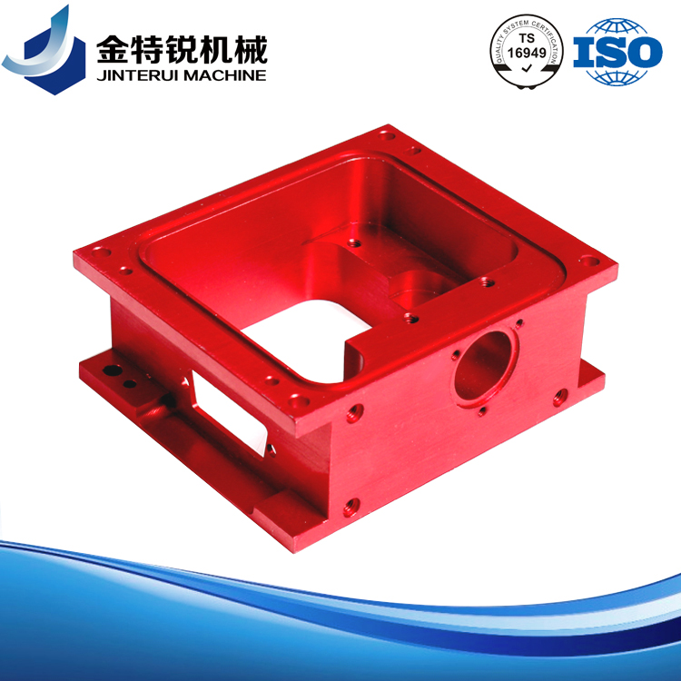 Red Anodised CNC Machined Enclosure