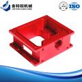 Fresagem de gabinete de usinagem CNC anodizado vermelho