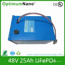 Bateria elétrica do triciclo da bateria de lítio 48V 25ah