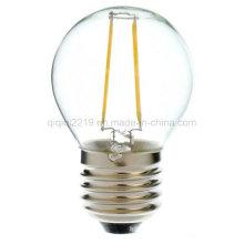 Luz clara do diodo emissor de luz do dimm E26 120V de 1.5W G45
