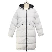 2020 winter casual women adjustable waist hooded zipper plus size down coat