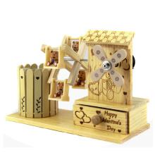 Caja de música de madera al por mayor de China decoración