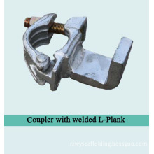 Scaffolding Forged Coupler with Welded L-Plank (with Grooves)