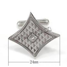 Gets.com stainless steel swank oval silver cufflinks