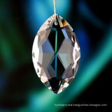 hanging decorative crystal ,Leaf Crystal bead For wedding favors