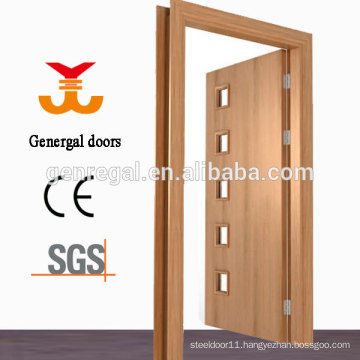 CE drawing glass design bathroom wooden doors