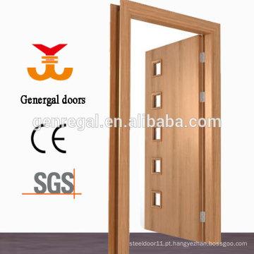 Portas de madeira do banheiro do projeto do vidro do desenho do CE