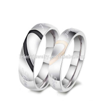 Cheap personalized couples ring jewelry,silver heart ring