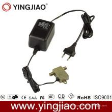 15W AC DC Enchufe el adaptador de corriente CATV con CE