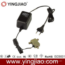 15W AC DC Plug in CATV Power Adapter with CE