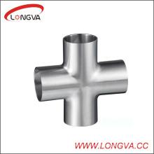 Cruz sanitaria de la soldadura del acero inoxidable 304 / 316L