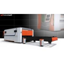 Closed Dual Work Table Fibre Metal Laser Cutting Machine