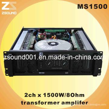 2xch professionnel amplificateur Audio (MS1500)