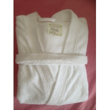Elegant White Adult Terry Bathrobe