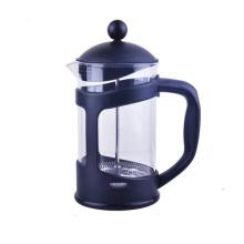 Cafetière en verre borosilicaté en plastique
