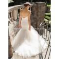 NA1029 Gorgeous Mermaid Sweetheart Plissado Tulle Ivory Bridal Wedding Dress