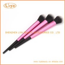 Nylon de pelo maquillaje cepillo conjunto con virola de aluminio