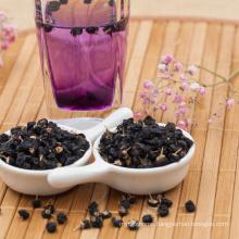 Certificate crop ningxia black goji berry into water became blue water