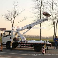 Camión de plataforma de trabajo de gran altura extensible con altura de 45M Portador aislante y brazo aislado