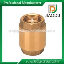 Válvula de retenção de latão JD-5905 / válvula de retenção vertical em latão / válvula de retenção de latão de 1/2 polegada