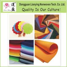 100% lana varios colores se sentía para uso de la decoración