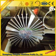 Dissipador de calor circular da extrusão do alumínio do diodo emissor de luz com extrusões de alumínio