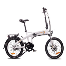 20 inch folding ebike with mid motor and suspension fork 250w electric bike