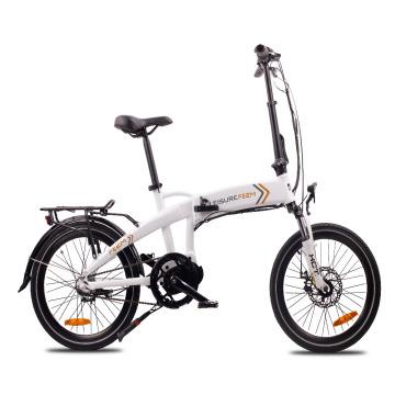20-Zoll-Klapp-E-Bike mit Mittelmotor und Federgabel 250W E-Bike