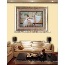 Canvas da pintura a óleo do dançarino de bailado