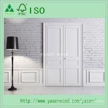 Puerta interior de madera compuesta imprimada blanca