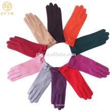 ZF5190 guantes de lana suave colorido de los estilos más nuevos para las señoras