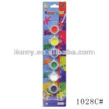 2ML 6-potes de cor de água (líquido, embalagem de cartão), tinta de água profissional