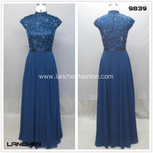 Chinese High Collar Lace Dress
